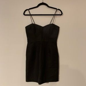 J Crew Grey Black Mini Dress Short Sexy 4P Petite